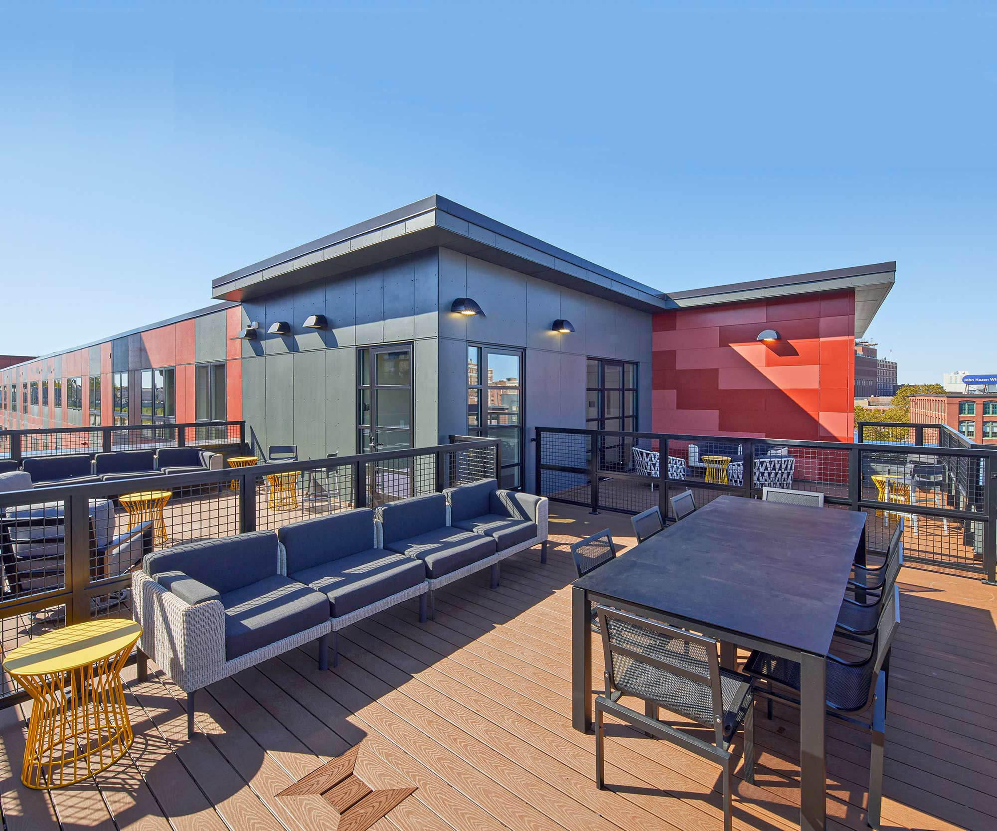 Rooftop deck at Chestnut Commons